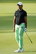 February 16th 2017, Lake Karrinyup Country Club, Perth, Western Australia, Australia; ISPS Handa World Super 6 Perth Golf Tournament Day 1; Jyoti Randhawa (IND) watches his shot from the 11th fairway during the first round of the ISPS Handa World Super 6 Golf Tournament;