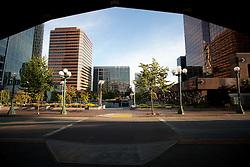North America, United States, Washington, Bellevue, view from Transit Center