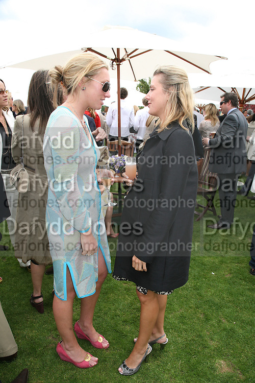 Josie Goodbody and Cheyenne Lazzaretto-Midte, Cartier International Polo. Guards Polo Club. Windsor Great Park. 29 July 2007.  -DO NOT ARCHIVE-© Copyright Photograph by Dafydd Jones. 248 Clapham Rd. London SW9 0PZ. Tel 0207 820 0771. www.dafjones.com.