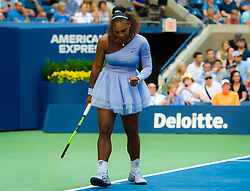 September 2, 2018 - Serena Williams of the United States in action during her fourth-round match at the 2018 US Open Grand Slam tennis tournament. New York, USA. September 02th, 2018. (Credit Image: © AFP7 via ZUMA Wire)