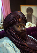 NIGER,, Agadez, the Sultan house., the Sultan is fondametal for the political mediation in order to establish and mantain the refugee in the desert few kilometers from the town