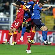 Galatasaray's Felipe Melo De Carvalho (B) during their Turkish superleague soccer match Kasimpasa between Galatasaray at the Recep Tayyip Erdogan stadium in Istanbul Turkey on Friday 18 January 2013. Photo by Aykut AKICI/TURKPIX