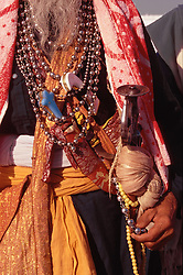 Closeup of a Sikh man's possessions including beads and daggers at the Golden Temple; Amritsar; India,