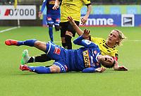 Fotball , 27. april 2019 , 1. divisjon , Obosligaen , Start - Sandefjord<br /> Stefan Mladenovic  , Sandefjord<br /> Erlend Seberg , Start