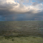 Storm arriving to the East End of the Island. Grand Cayman Island.