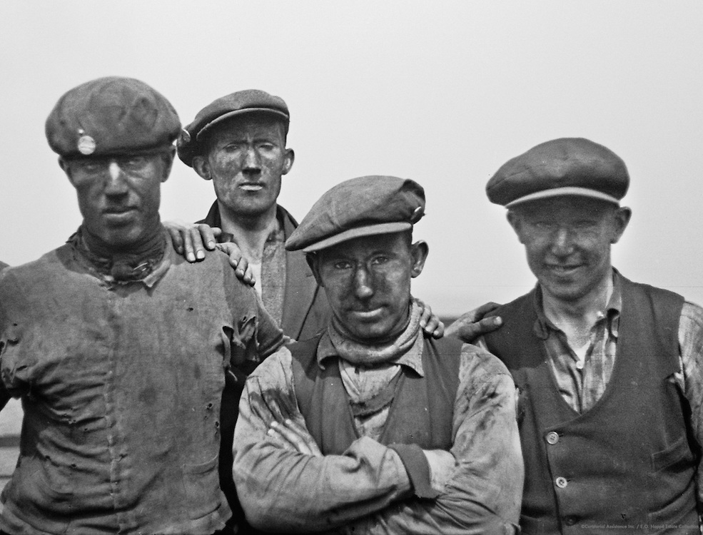 Miners, Horden Pit, England, 1935