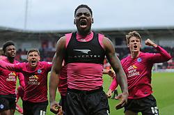 Ricardo Almeida Santos of Peterborough United celebrates scoring the winning goal - Mandatory byline: Joe Dent/JMP - 19/03/2016 - FOOTBALL - The Keepmoat Stadium - Doncaster, England - Doncaster Rovers v Peterborough United - Sky Bet League One