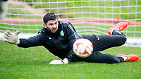 22/10/14 <br /> CELTIC TRAINING<br /> Celtic goalkeeper Lukasz Zaluska is put through his paces at training