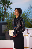 Winner of the Grand Prix Award, Mati Diop, for the film Atlantique, at the Palme D'Or Award photo call at the 72nd Cannes Film Festival, Saturday 25th May 2019, Cannes, France. Photo credit: Doreen Kennedy