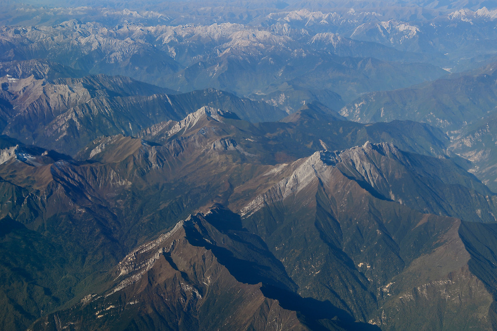 Mountains from above Aerial over the Tien-Shan mountains, China