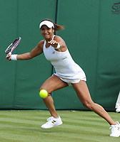 Tennis - 2019 Wimbledon Championships - Week One, Monday (Day One)<br /> <br /> Women's Singles, 1st Round: <br /> Caty McNally (USA) v Heather Watson (GBR) on Court 12.<br /> <br /> Heather Watson<br /> <br /> COLORSPORT/ANDREW COWIE