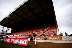 Alfie Mawson of Bristol City leads his side out at Barnsley - Mandatory by-line: Robbie Stephenson/JMP - 17/10/2020 - FOOTBALL - Oakwell Stadium - Barnsley, England - Barnsley v Bristol City - Sky Bet Championship