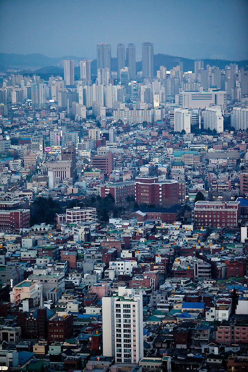 Daegu city seen from the top of Woobang Tower (Daegu Tower). Daegu, also known as Taegu and officially the Daegu Metropolitan City, is the third largest metropolitan area in South Korea, and by city limits, the fourth largest city with over 2.5 million people. The IAAF World Championships in Athletics will take place in Daegu from the 27th of August till the 4th of September 2011.