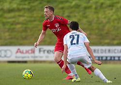 Mathias Johannsen (FC Fredericia) under kampen i 1. Division mellem FC Fredericia og FC Helsingør den 4. oktober 2020 på Monjasa Park i Fredericia (Foto: Claus Birch).