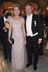 Fredrik Eriksson, Catharina Eriksson <br /> <br />  <br /> <br />  beim Nobelbankett 2016 im Rathaus in Stockholm / 101216 <br /> <br /> <br /> <br /> ***The Nobel banquet, Stockholm City Hall, December 10th, 2016***