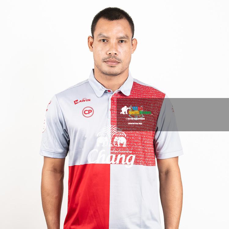 THAILAND - JUNE 29: Kittikoon Jamsuwan #14 of Sukhothai FC on June 29, 2019.<br /> .<br /> .<br /> .<br /> (Photo by: Naratip Golf Srisupab/SEALs Sports Images/MB Media Solutions)
