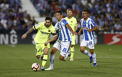 September 26, 2018 - Leganes, Madrid, Spain - Lionel  Messi (FC Barcelona) in action during the La Liga match between CD Leganes and FC Barcelona at Butarque Stadium in Leganes, Spain. (Credit Image: © Manu Reino/SOPA Images via ZUMA Wire)