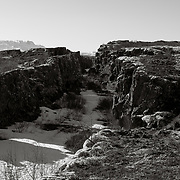 Meeting of the Eurasian and American continental plates, and the outdoor meeting place of the Alpingi council for nearly 1,000 years, Thingvellir, Southwest Iceland