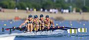 Sydney. AUSTRALIA. 2000 Summer Olympic Regatta, Penrith. NSW.  <br /> <br /> AUS M4X Bow: Peter Hardcastle. 2: Jason Day, 3: Stuart Reside and Str: Duncan Free.<br /> <br /> [Mandatory Credit Peter SPURRIER/ Intersport Images] Sydney International Regatta Centre (SIRC) 2000 Olympic Rowing Regatta00085138.tif