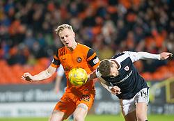 Dundee United's Nick Van Der Velden and Raith Rovers Iain Davidson. Dundee United 3 v 0 Raith Rovers, Scottish Championship game played 4/2/2017 at Dundee United's stadium Tannadice Park.