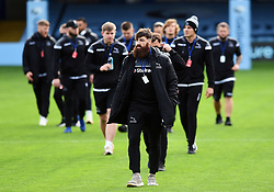 Gary Graham leads the Newcastle Falcons team prior to the match - Mandatory byline: Patrick Khachfe/JMP - 07966 386802 - 21/11/2020 - RUGBY UNION - The Recreation Ground - Bath, England - Bath Rugby v Newcastle Falcons - Gallagher Premiership