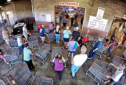 Shoppers crowd the entrance to the Costco store on Oct. 5, 2016 in Altamonte Springs, FL, USA, as central Floridians prepare for the anticipated strike of Hurricane Matthew.Photo by Joe Burbank/Orlando Sentinel/TNS/ABACAPRESS.COM