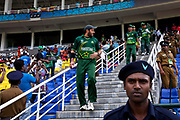 Pakistan Cricket Team lead by captain Shahid Afridi enter Pallakele Stadium, to field against Zimbabwe, Kandy, Sri Lanka