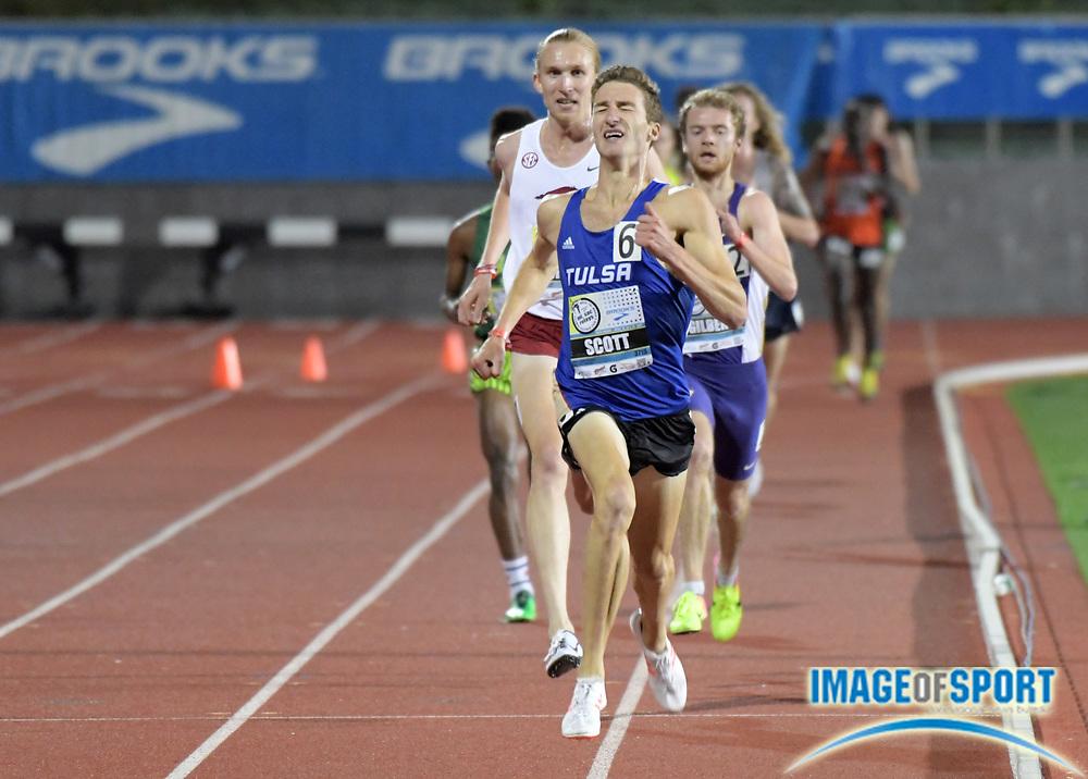 Apr 14, 2017; Torrance, CA, USA; Marc Scott of Tulsa wins the invitational 5,000m in 13:37.45 during the 59th Mt. San Antonio College Relays at El Camino College.