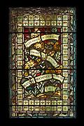 "Window 2 on plan. 28""w x 44.5"" h. inc. frame<br /> <br /> St. Mary's by-the-Sea, Northeast Harbor, Maine."