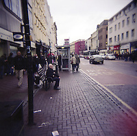 Donegal Place shopping area in Belfast Northern Ireland on a Saturday afternoon