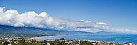 Panoramic view of coastline, Santa Barbara, California
