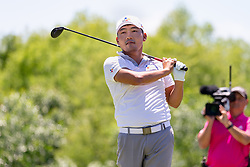 May 12, 2019 - Dallas, TX, U.S. - DALLAS, TX - MAY 12: Sung Kang hits his tee shot on #4 during the final round of the AT&T Byron Nelson on May 12, 2019 at Trinity Forest Golf Club in Dallas, TX. (Photo by Andrew Dieb/Icon Sportswire) (Credit Image: © Andrew Dieb/Icon SMI via ZUMA Press)