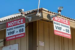 Lahaina Harbor Radio Channel VHF-68 Sign