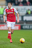 Ben Purrington (Rotherham United) runs with the ball during the EFL Sky Bet Championship match between Rotherham United and Blackburn Rovers at the AESSEAL New York Stadium, Rotherham, England on 11 February 2017. Photo by Mark P Doherty.