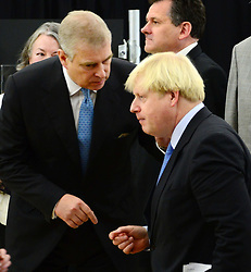 The Duke of York & Boris Johnson College Opening.<br /> The Duke of York with Boris Johnson during the opening of the Royal Greenwich University Technical College. The new regional academy will develop the skills of 14-19 year olds in engineering and construction, alongside their core academic education, London, United Kingdom. Thursday, 24th October 2013. Picture by Nils Jorgensen / i-Images