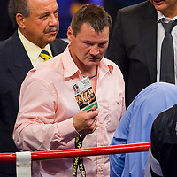 Karoly Balzsay (HUN) losing the world champion belt against Robert Stieglitz (GER) durint a WBO title match organized by Universum Production in Budapest, Hungary. Saturday, 22. August 2009. ATTILA VOLGYI