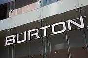 Sign for the high street menswear clothing brand Burton in Birmingham, United Kingdom.