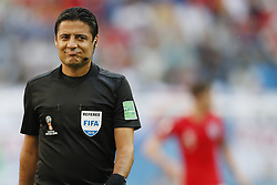 referee Alireza Faghani during the 2018 FIFA World Cup Play-off for third place match between Belgium and England at the Saint Petersburg Stadium on June 26, 2018 in Saint Petersburg, Russia