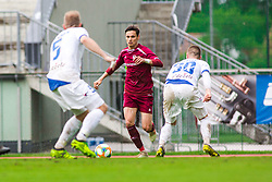 Ivan CRNOV  vs Zan ZALETEL during Football match between NK Triglav Kranj and NK Celje, on May 12, 2019 in Sport center Kranj, Kranj, Slovenia. Photo by Peter Podobnik / Sportida
