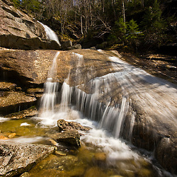 Bridal Veil Falls in New Hampshire's White Mountain National Forest.  Coppermine Trail.