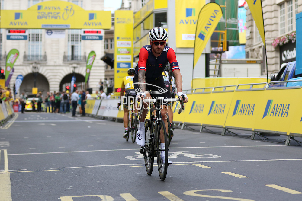 Sir Bradley Wiggins before the London Stage of the Aviva Tour of Britain, Regent Street, London, United Kingdom on 13 September 2015. Photo by Ellie Hoad.