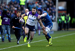 Scotland's Tommy Seymour (left) in action during the NatWest 6 Nations match at BT Murrayfield, Edinburgh.
