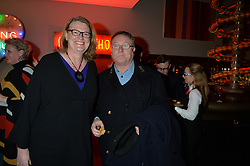 A party to celebrate the publication of renowned international fashion designer and icon Collette Dinnigan's book Obsessive Creative was held at the Ham Yard Hotel, One Ham Yard, London on 16th February 2015.<br /> Picture Shows:-MARION HUME and PETER HUNT.