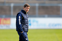 Bristol Rovers Manager Darrell Clarke takes training before Sundays Vanamara Conference Play Off Final match against Grimsby Town at Wembley Stadium for promotion to the Football League 2 - Photo mandatory by-line: Rogan Thomson/JMP - 07966 386802 - 12/05/2015 - SPORT - FOOTBALL - Bristol, England - Memorial Stadium - Bristol Rovers Play Off Final Previews - Vanarama Conference Premier.