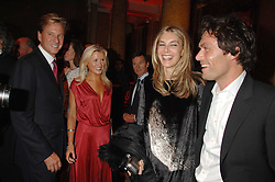 Left to right, ROB HERSOV, DR KATIE JAMES, KIM HERSOV and    at a party to celebrate the launch of the 'Inde Mysterieuse' jewellery collection held at Lancaster House, London SW1 on 19th September 2007.<br /><br />NON EXCLUSIVE - WORLD RIGHTS