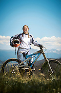 Neven Steinmetz, pro downhill mountain biker. Winter Park, Colorado.