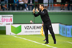 Ante Šimundža, head coach of Mura reacts during Football match between NS Mura (SLO) and Maccabi Haifa (IZR) in First qualifying round of UEFA Europa League 2019/20, on July 18, 2019, in Stadium Fazanerija, Murska Sobota, Slovenia. Photo by Blaž Weindorfer / Sportida
