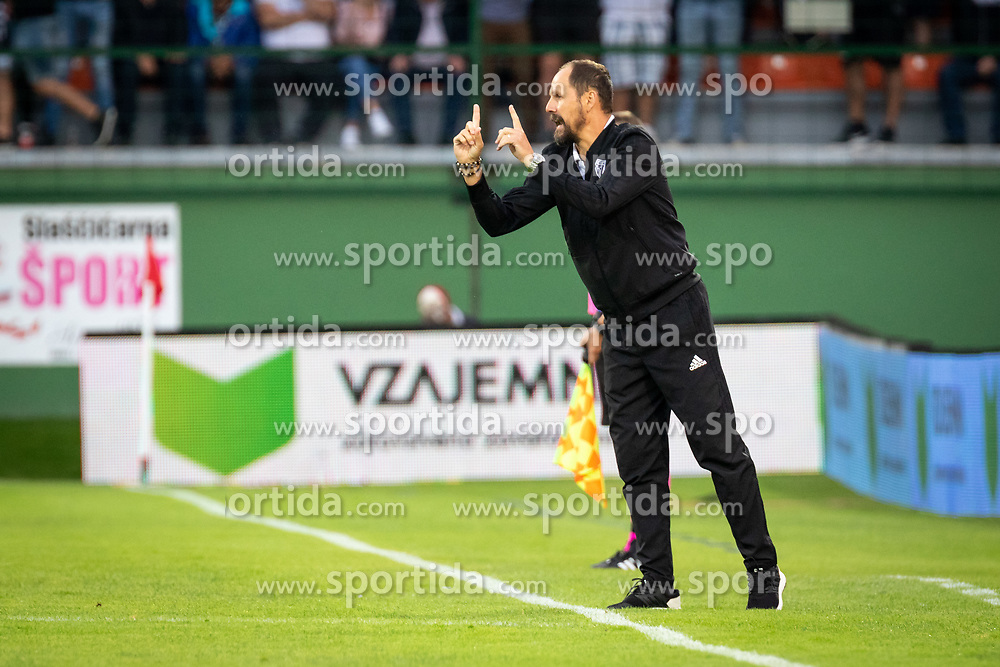 Ante Šimundža, head coach of Mura reacts during Football match between NS Mura (SLO) and Maccabi Haifa (IZR) in First qualifying round of UEFA Europa League 2019/20, on July 18, 2019, in Stadium Fazanerija, Murska Sobota, Slovenia. Photo by Blaž Weindorfer / Sportida