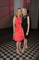 Left to right, AMY CORCELL and REN HARMAN at a fashion show by Catherine Walker & Co in support of The Haven held at One Mayfair, North Audley Street, London on 18th May 2011.