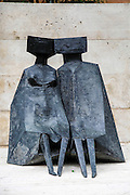 Armenia, Yerevan, Cafesjian Museum of Art and the Cascade Lynn Chadwick, UK, Two Watchers,  bronze
